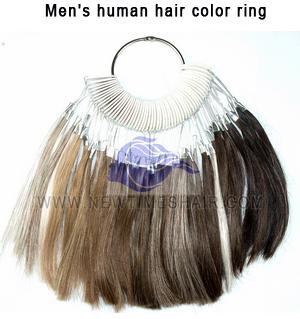 Men's human hair color ring1