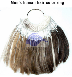 Men's human hair color ring1