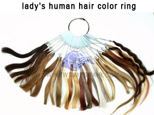 lady's human hair color ring1