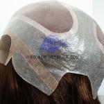 NTW6:Parrucca in Fine Mono con Lace Francese Frontale e Perimetro in Pelle Sottile