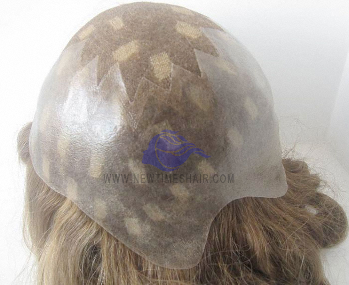 NTW7French lace crown with skin perimeter