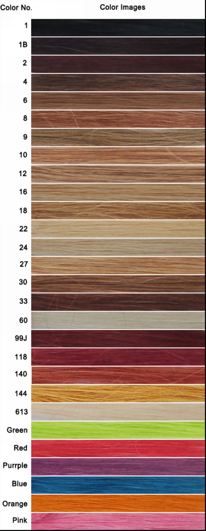 Women's color board for newtimeshair