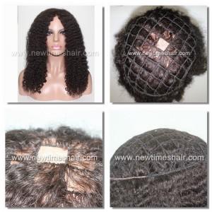 LW2952 Parrucca Integrazione Capelli Ricci da Donna Rete in Nylon  Piece For Afro Women