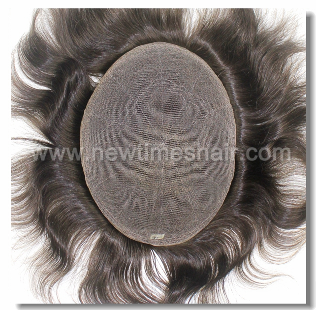 HS7 Full French Lace Invisible Hairline Hair Replacements for Men Stock Piece for Immediate Shipment