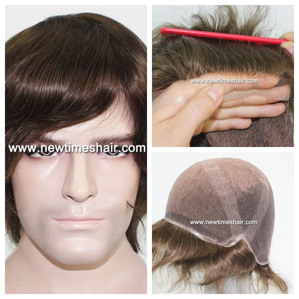 LW2585 very natural hairline full lace cap hair piece for men.