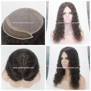 LW3364 Parrucca da Donna Top in Seta Nodi Schiariti Capelli Lunghi