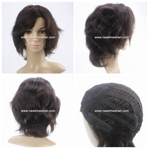 Lx0278 Parrucca da Donna realizzata a Macchina Capelli Umani