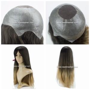 LL361 Parrucca Intera Calotta da Donna Capelli Lunghi 2 Tonalità di Colore