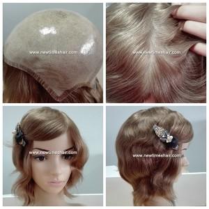 LW4545 Parrucca da Donna Innestata in Silicone
