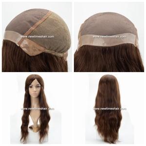 Parrucca Realizzata a Mano Top in Mono e Lace Elastico sul retro